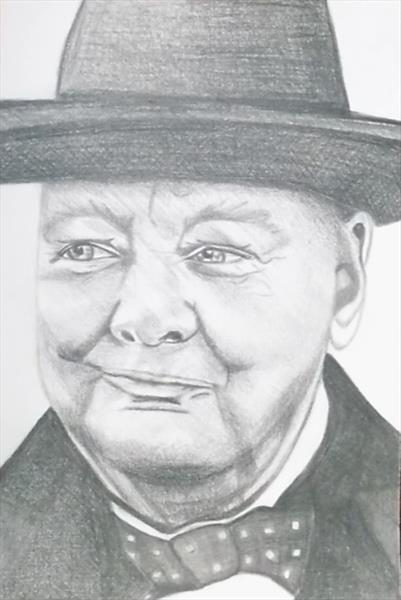 Winston Churchill by clare reed