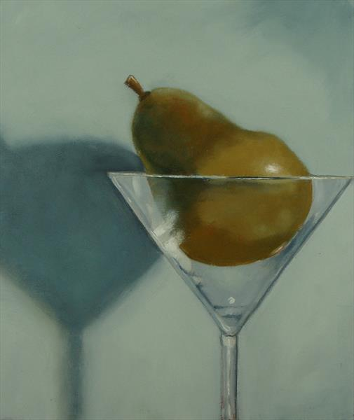 pear and glass by Terry Wylde