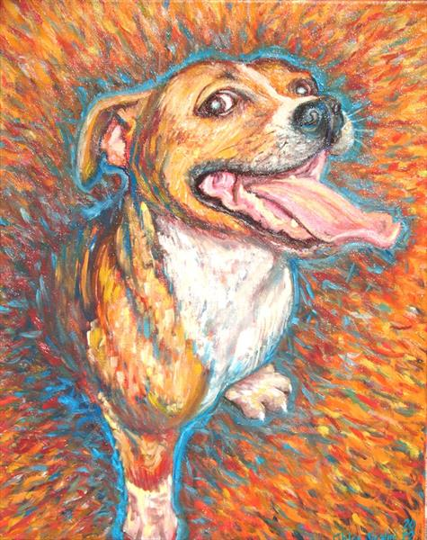 Happy Staffy by Chloe  Shalini