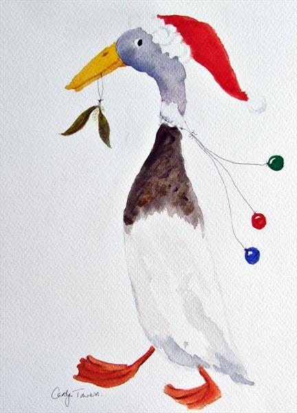 Christmas Duck by Carolyn Towers