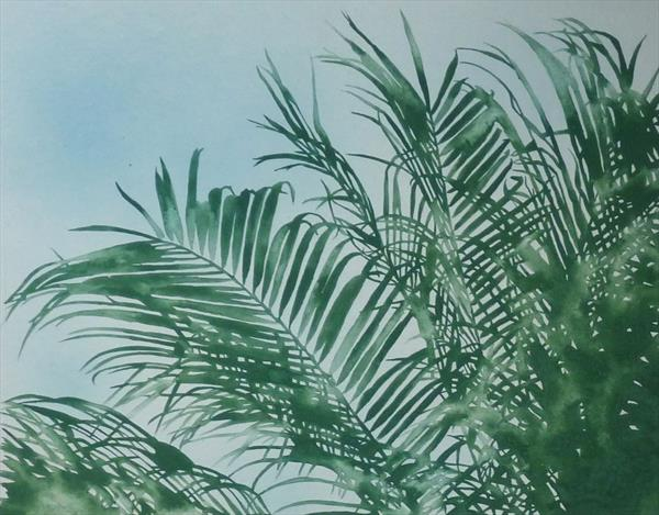 Sun Shine in Palm Trees07 by Sally Maltby