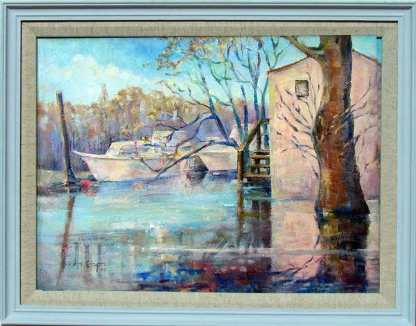 Flooded Moorings by Jean Simpson