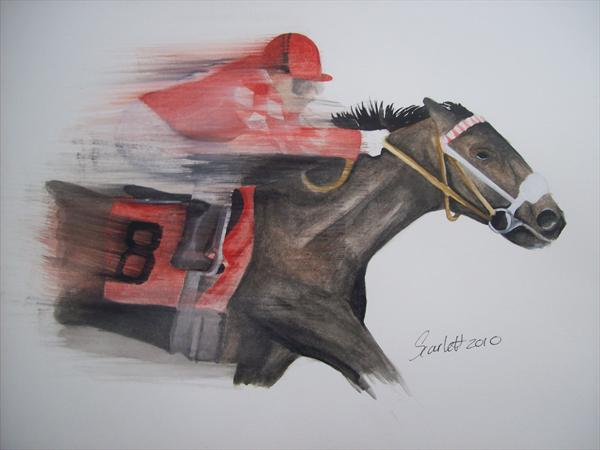 Horse Racing by Steph Scarlett