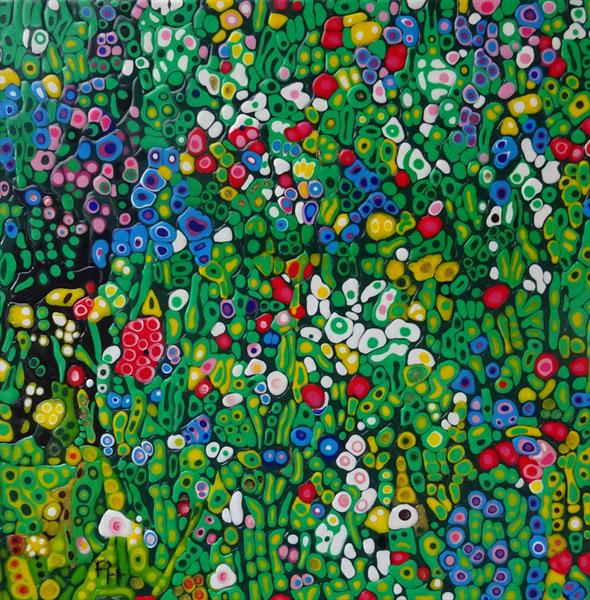 Abstract Wildflowers by Paula Horsley