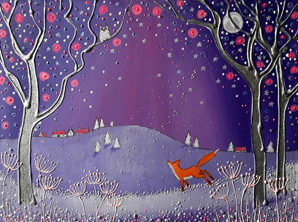 Fox in Winter by Angie Livingstone