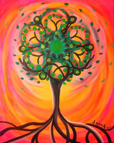 Psychedelic Tree by Jonathan Kania