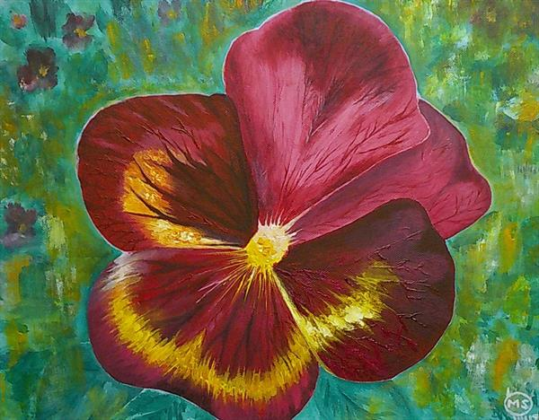 Red Pansy by Mahnaz Soufian