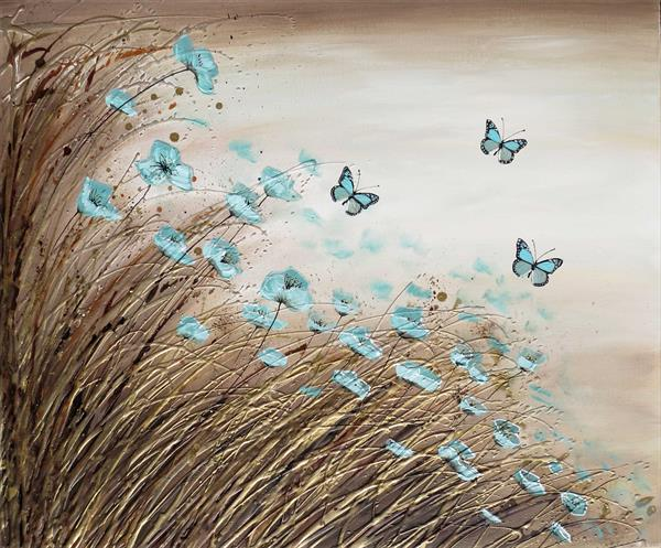 Duck Egg Blue Butterflies
