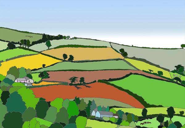 Devon Fields 2 by Jo Mortimer