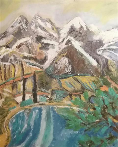 Mountain and lakes by Kelly Sherwin