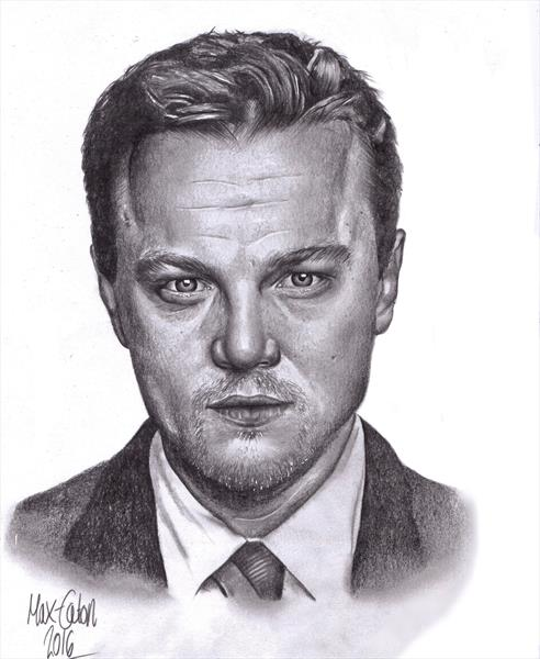 Leonardo DiCaprio Portrait Drawing by Max  Eaton