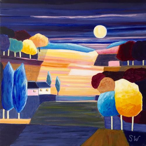 Pink and Yellow Fields by Suzie Wainman