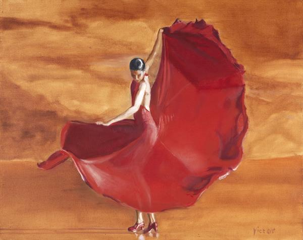Swirling Dress by Victor White