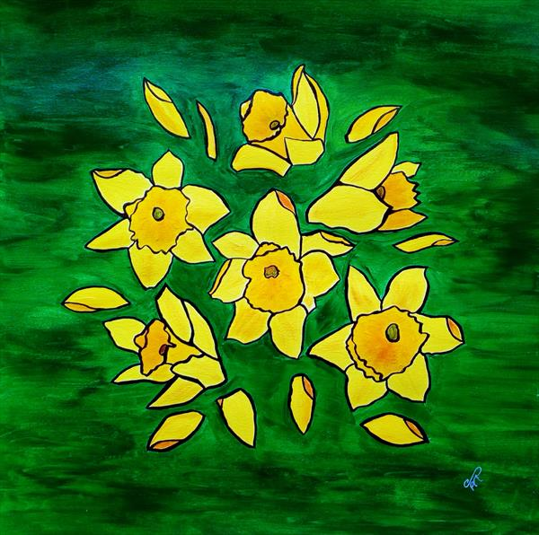 Daffodils by Sue  Mobbs
