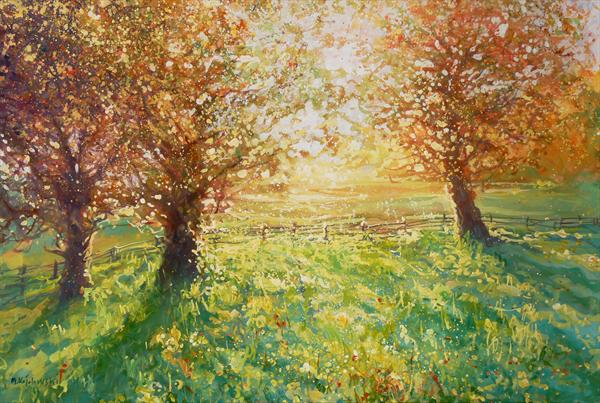 Afternoon Sun (On Display At the Art Gallery, Tetbury) by Mariusz Kaldowski