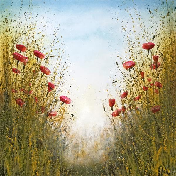 Wild poppies Landscape by Beatrice   Cawood