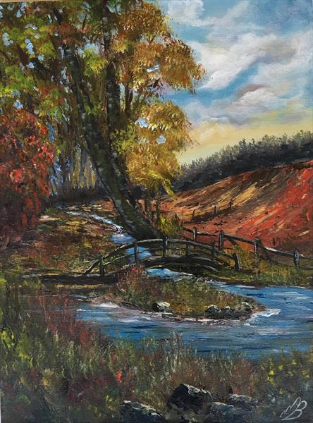 Bridge in the New Forest in Dorset by Marja Brown