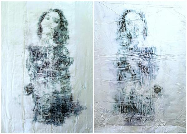 Twin sisters -02- (n.421) - diptych  by Alessio Mazzarulli