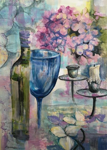 Wine and Flowers by Denise Allen