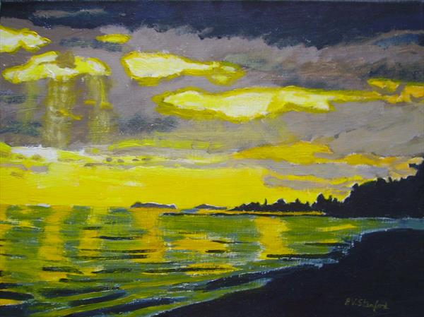 Sunrise at Vancouver Island by Pauline Stanford