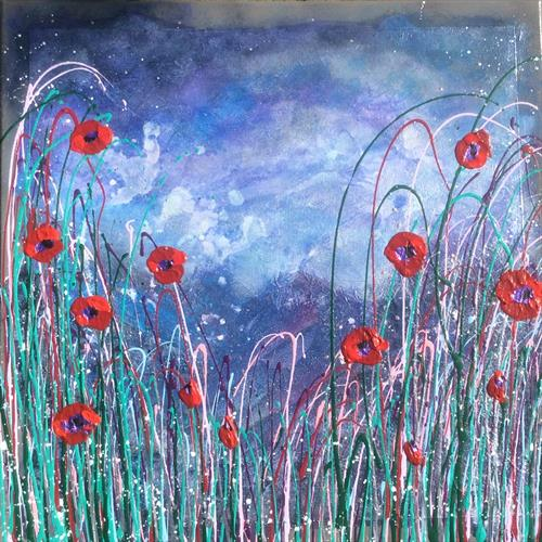Storm Poppies by Claire Henle