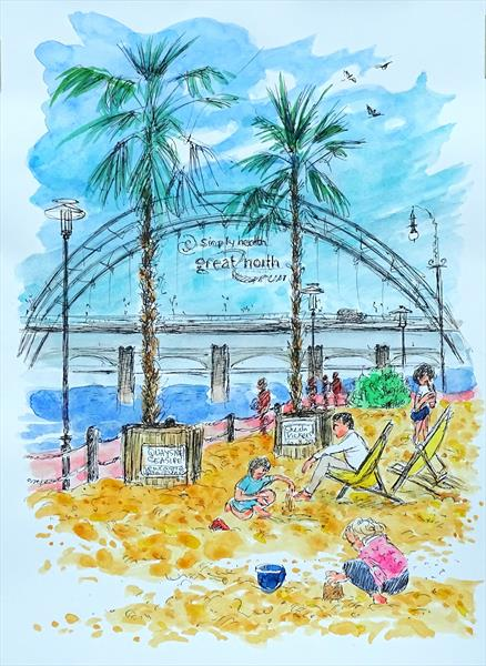 Quayside Seaside by Sheila Vickers