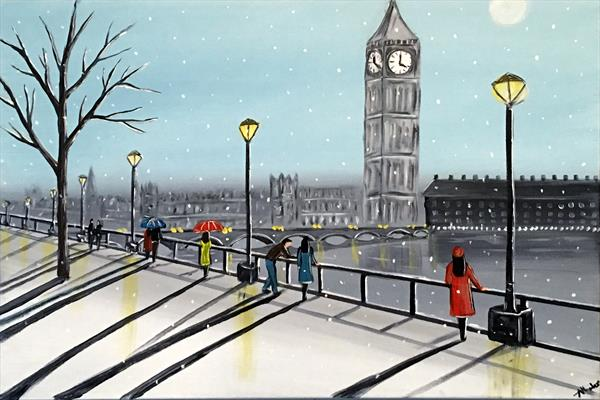 Snowing In London 3 by Aisha Haider