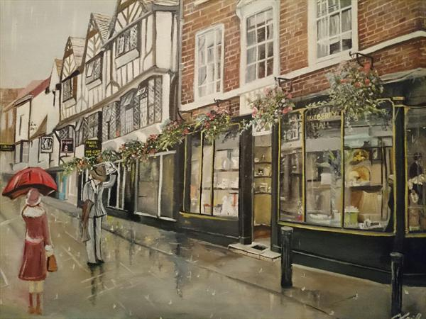 A Rainy Afternoon in York by Csilla Orosz