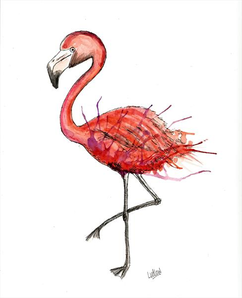'Floyd the Flamingo' by Kate Spratt