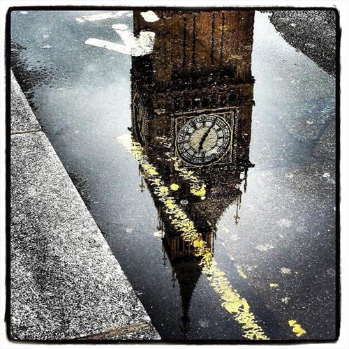 Big Ben Reflection by Christian Rose