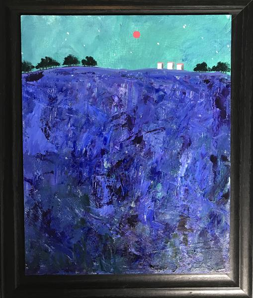 The lilac twilight - there is loveliness tonight ( framed original oil )