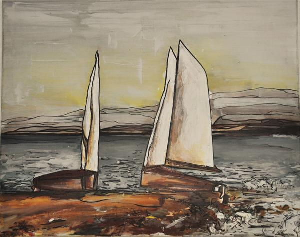 Two Yachts by Emma Hames