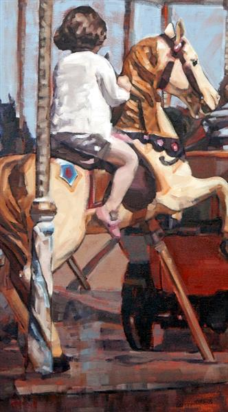 Merry-Go-Round II - Limited Edition Giclee Art Print  by Claire McCall