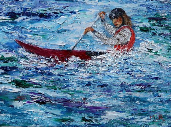 Paddling for Olympic gold- Lee Valley White Water by Mary Ann Day