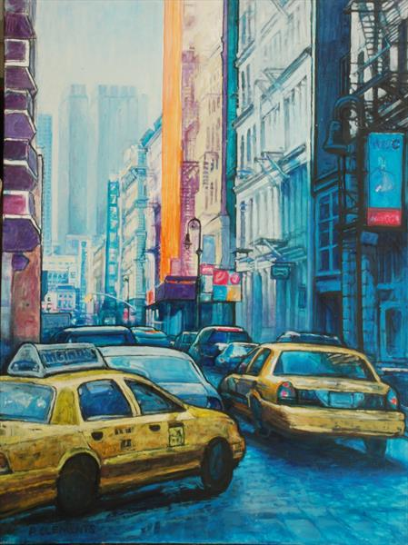 Greenwich Village New York (Giclee print) by Patricia Clements