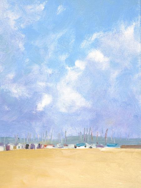 Windy skies over Monmouth Beach 2 by Michael Parkinson