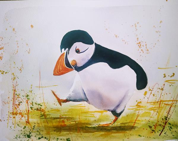 PUFFIN - JUST DANCING by Gill Michael