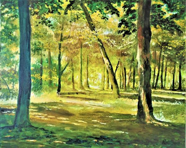 Sunlight through the trees 8 by Rod Bere