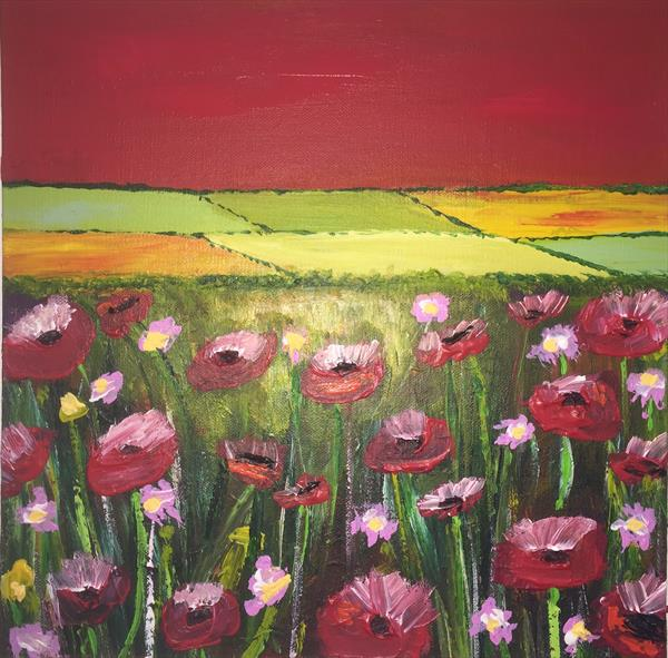 Glorious fields of Poppies by Caroline Duncan