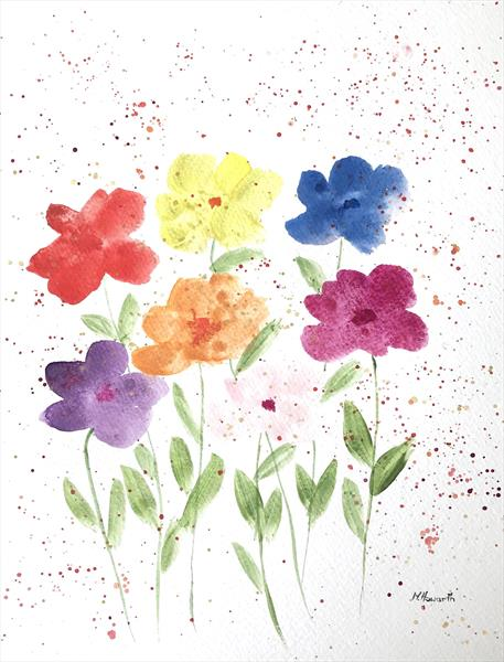 Colourful flowers nr 3 by Monika Howarth