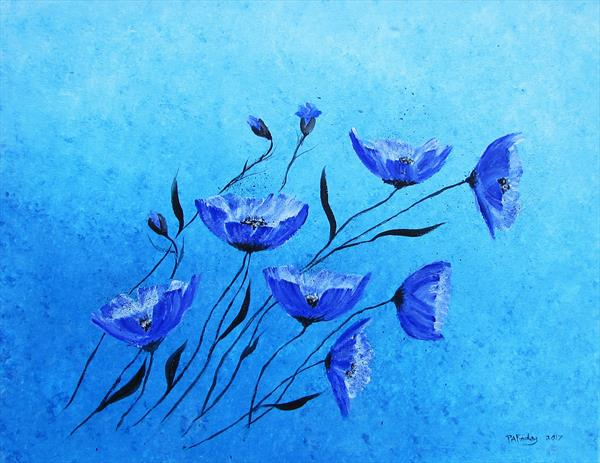 Blue Poppies by Patricia Findlay