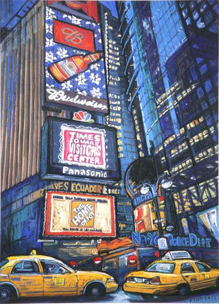 Times Square New York by Patricia Clements