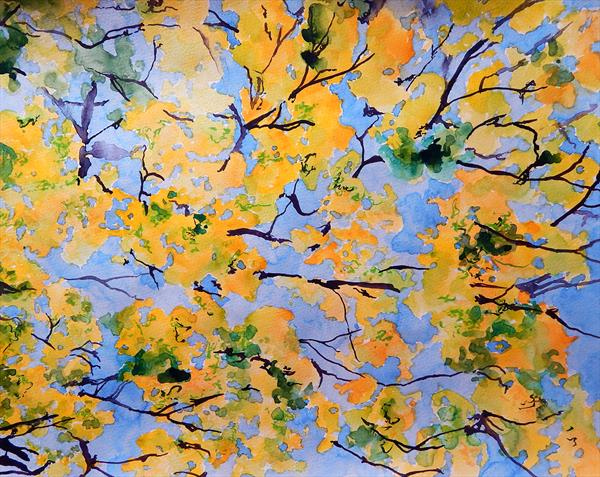 Yellow leaves by Richard Freer