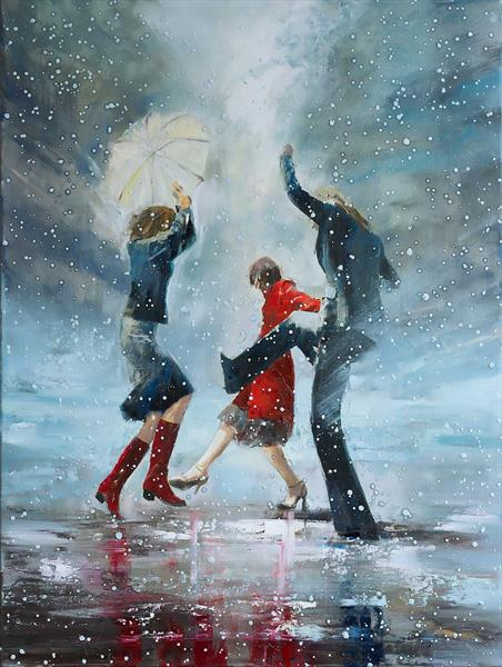 'Dance in the Snow' by Eva Czarniecka