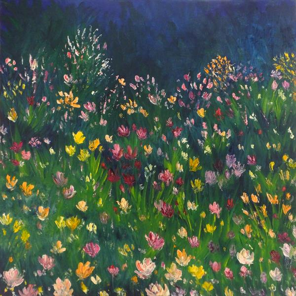 Wild-Flower Fringed Field by Hester Coetzee