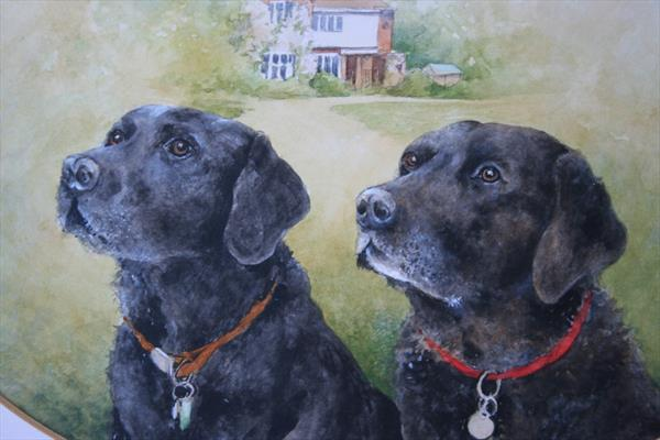 Black Labradors by Christopher Hughes