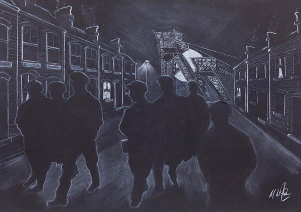 Wesh Miners - End of shift by Mike Isaac
