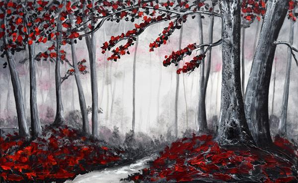 Red Blossom Forest  by Amanda Dagg