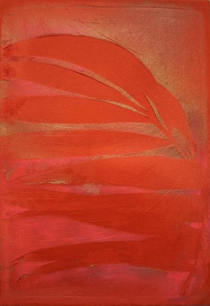 Red Palm - Red and Pink Reduced (Was £129) by Joanne Clare Pilkington