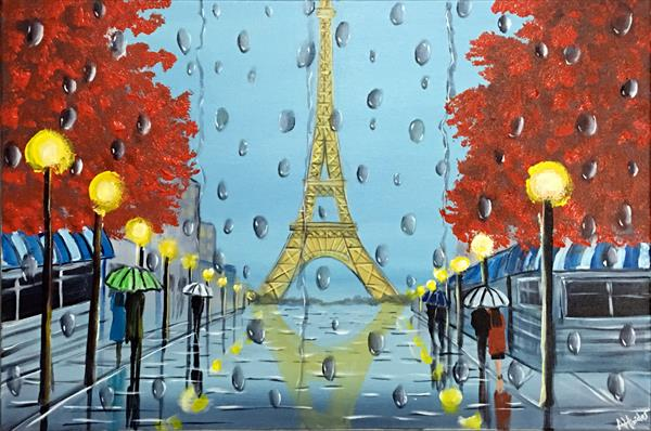 Rainy Day At The Eiffel by Aisha Haider
